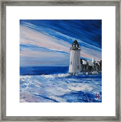 Pemaquid Winter Light Framed Print by Lynne Vokatis