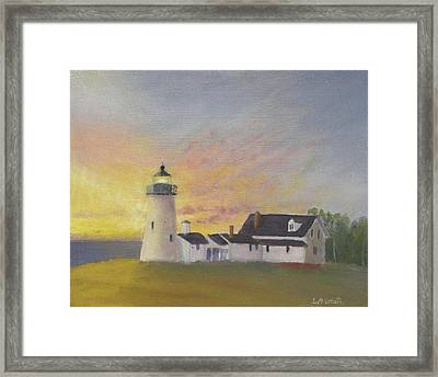 Pemaquid's First Light Framed Print