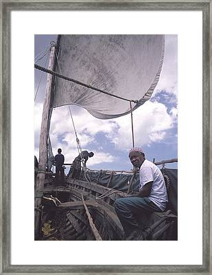 Pemba Boat Framed Print by Marcus Best