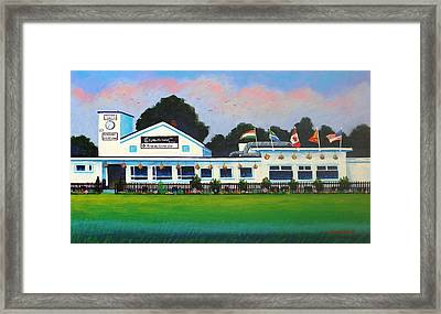 Pembroke Cricket Club - Dublin Framed Print by John  Nolan