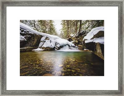 Framed Print featuring the photograph Pemigewasset River by Robert Clifford