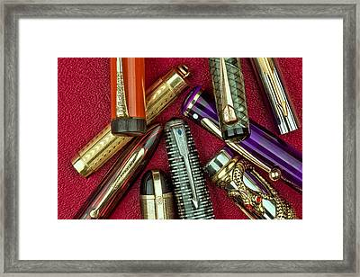Pen Caps Still Life Framed Print