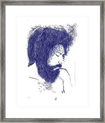 Pen Portrait Framed Print