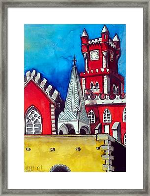 Pena Palace In Portugal Framed Print by Dora Hathazi Mendes