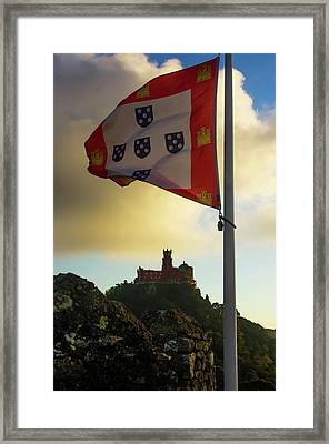 Pena Palace In Sintra Framed Print