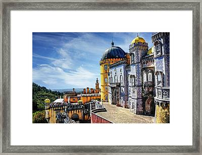 Pena Palace In Sintra Portugal  Framed Print by Carol Japp