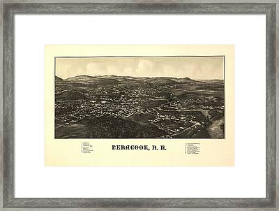 Penacook New Hampshire 1887 Framed Print by Mountain Dreams