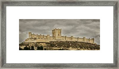 Penafiel Castle, Spain. Framed Print