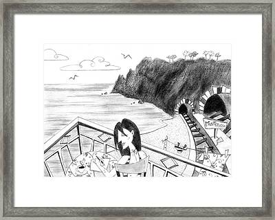 Pencil Drawing - Cartoon Illustration Framed Print by Arte Venezia