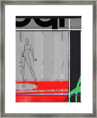 Pencil Fashion Framed Print by Naxart Studio