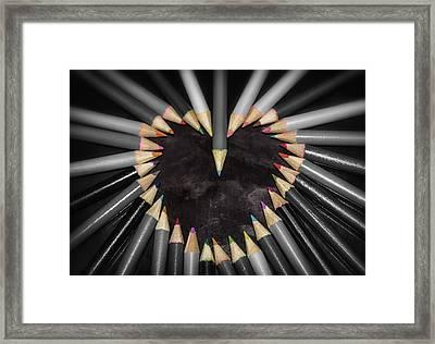 Pencil Heart Framed Print