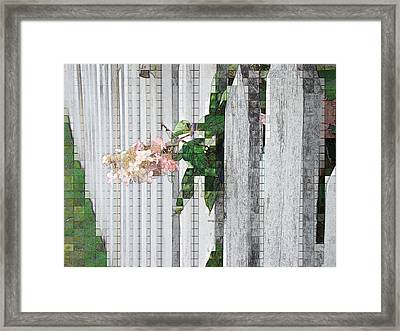 Pencil Mosaic Framed Print by Tingy Wende
