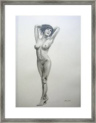 Pencil Nude 14 Framed Print