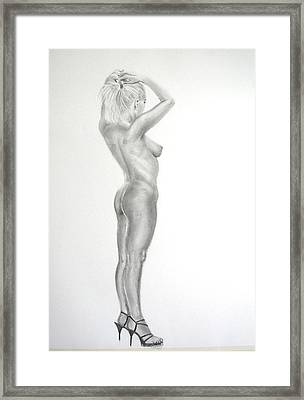 Pencil Nude 16 Framed Print