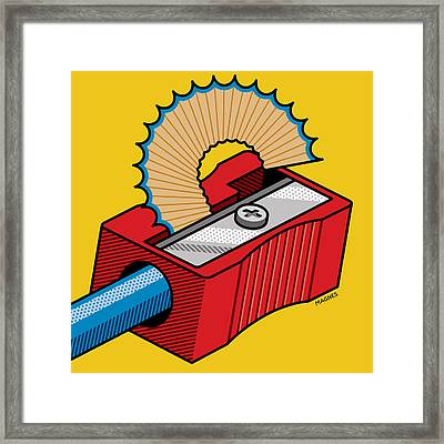 Framed Print featuring the digital art Pencil Sharpener by Ron Magnes