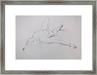 Pencil Sketch 10.2010 Framed Print