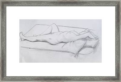 Pencil Sketch 1.2011 Framed Print