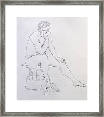 Pencil Sketch 2    2.2011 Framed Print