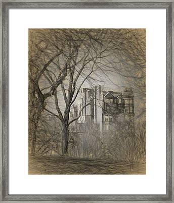 Pencil Sketch Of Beacon Hill Framed Print