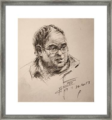 Sketch Man 8 Framed Print