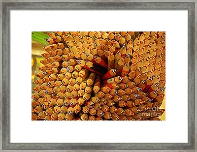 Pencils Pencils Everywhere Pencils Get The Point...lol Framed Print