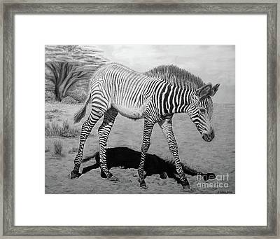 Framed Print featuring the painting Penda by Jennifer Watson