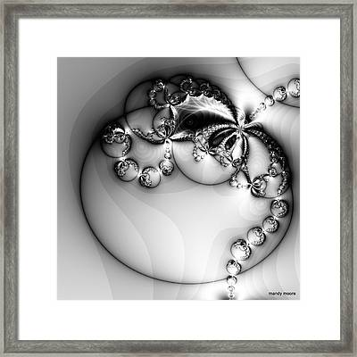 Pendant In Silver Framed Print by Amanda Moore