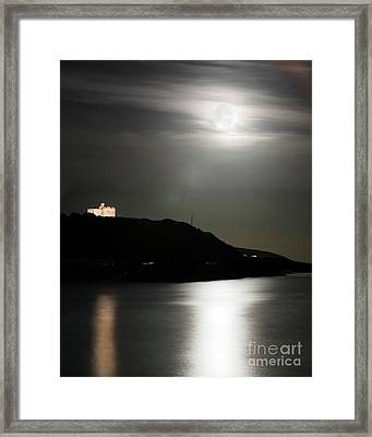 Pendennis Castle At Night Framed Print by Terri Waters