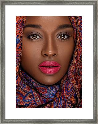 Nubian Princess  Framed Print by Raushan Murshid
