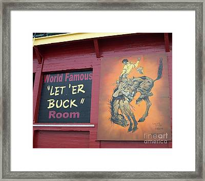 Pendleton Round Up Mural Framed Print by Chalet Roome-Rigdon