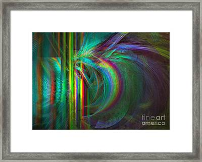 Penetrated By Life - Abstract Art Framed Print by Sipo Liimatainen