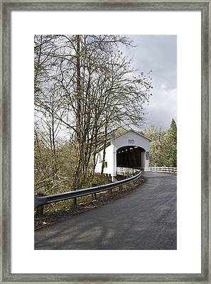 Pengra Covered Bridge Framed Print by John Higby