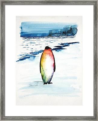 Penguin 1 Framed Print by Carolyn Doe