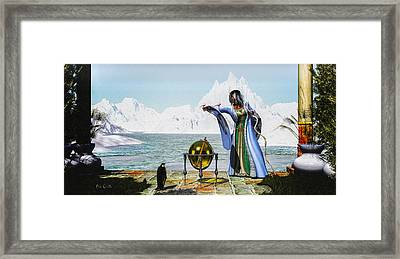 Penguin Magic And The Winter Witch Framed Print by Bob Orsillo