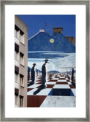Penguin Men Framed Print by Jez C Self