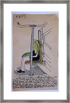 Penis Framed Print by William Douglas