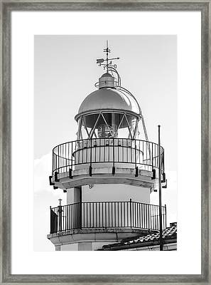 Peniscola Lighthouse Of Spain Framed Print by Daniel Hagerman