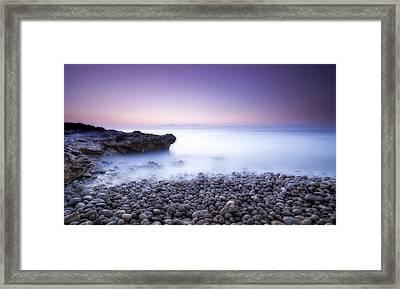 Peniscola Sunrise Framed Print by Hernan Bua