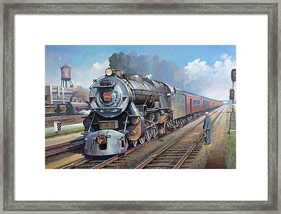Framed Print featuring the painting Penn Central Pacific. by Mike Jeffries