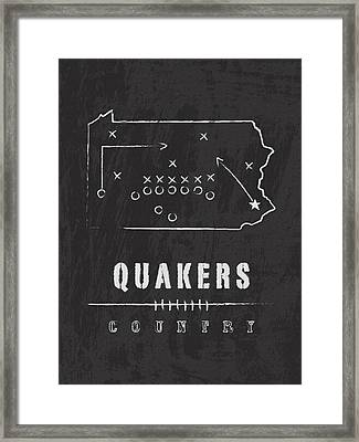 Penn Quakers Country Framed Print by Damon Gray