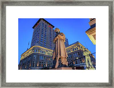 Penn Square Lancaster City Framed Print