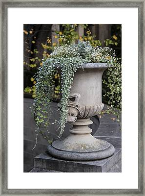 Penn State Flower Pot  Framed Print by John McGraw