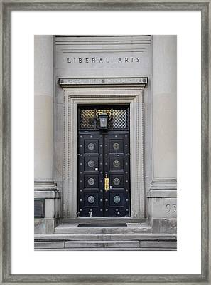 Penn State University Liberal Arts Door  Framed Print