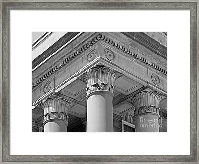 Penn State University Old Main Framed Print by University Icons