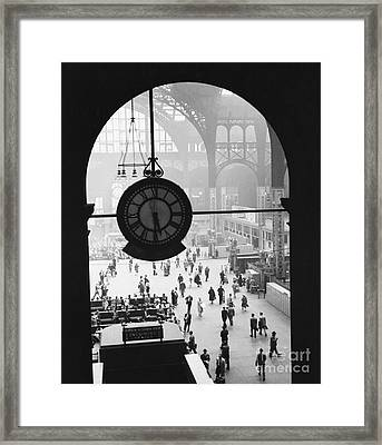 Penn Station Clock Framed Print