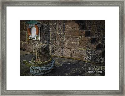 Pennan Lifebelt Framed Print by Alex Millar