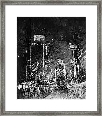 Pennell Broadway Towers, 1904 Framed Print