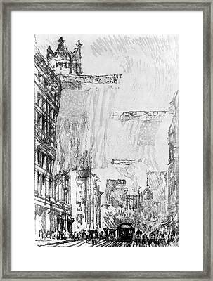 Pennell Flags, 1904 Framed Print