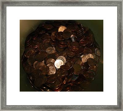 Pennies Framed Print by Rob Hans