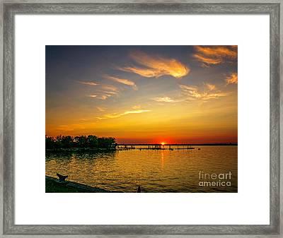 Pennsville Sunset Framed Print
